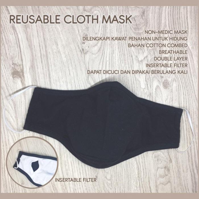 Foto Produk (SEGITIGA) Masker non-Medis Dewasa isi 4pcs - HIJAB HEADLOOP, POLOS dari Moma & Bebe House