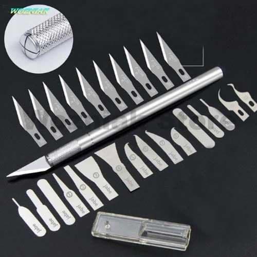 Foto Produk Hobby Knife Carving Tools with 26 Blades (MHC-02) dari Tamiyatoys