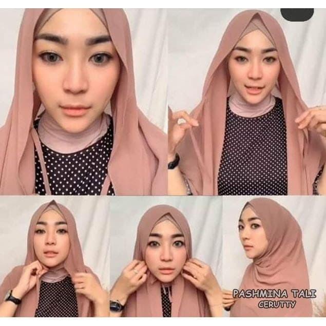Jual Jilbab Pashmina Instan Tali Pashmina Ceruti Hijab Kerudung Terbaru Kota Bandung Qie Store Tokopedia