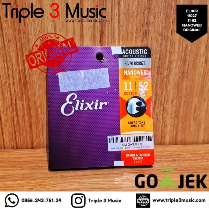Foto Produk Elixir 11027 11-52 Nanoweb ORIGINAL Senar Gitar Akustik Strings dari triple3music