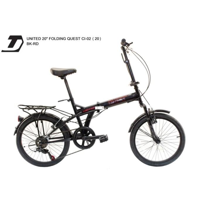 Jual sepeda lipat 20 united quest 01 - Kota Depok - sumber