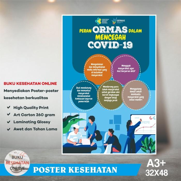 Jual Poster Kesehatan PERAN ORMAS DALAM MENCEGAH COVID 19 ...
