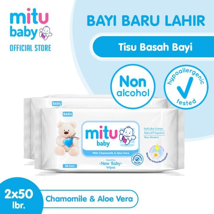 Foto Produk Mitu Baby Wipes Sensitive 50S [2pcs] dari Mitu Indonesia