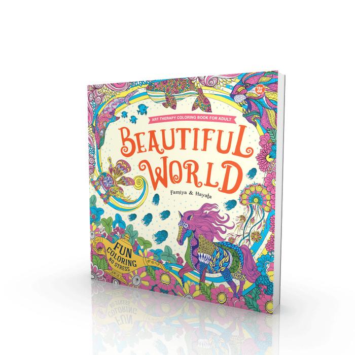 Foto Produk Beautiful World - Art Therapy Coloring Book for Adults dari Toko Kutu Buku
