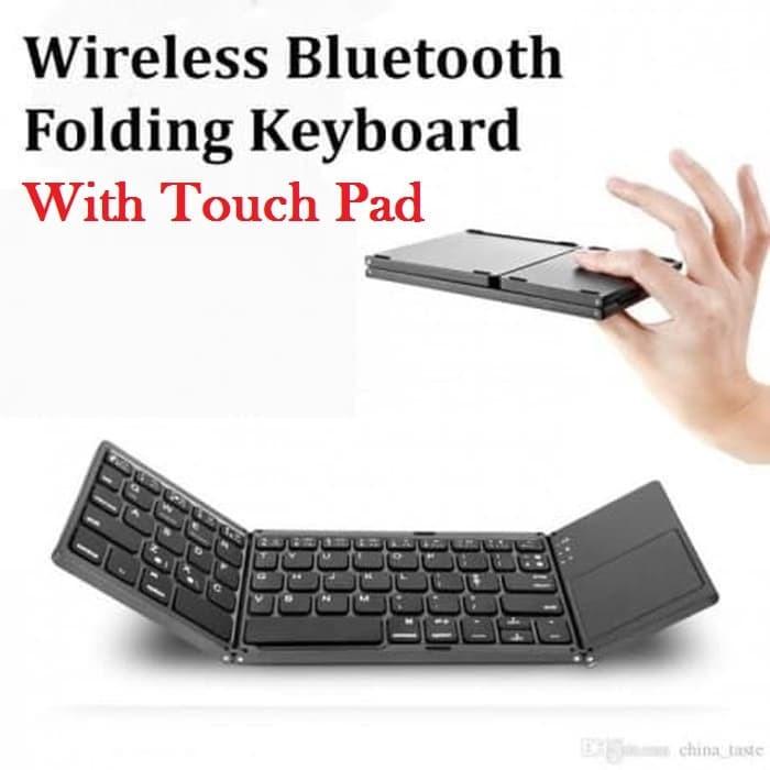 Jual Portable Bluetooth Keyboard Papan Ketik Dengan Touchpad Untuk Hp Tab Hitam Jakarta Pusat Maxxi Computer Tokopedia