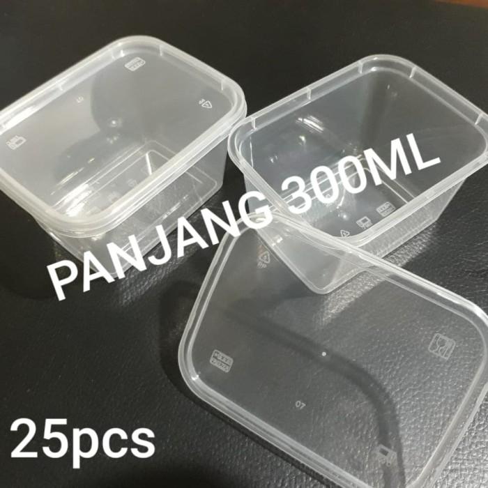 Foto Produk THINWALL PANJANG 300 ML - 300ML KOTAK MAKAN ANTI PANAS - ISI 25 PCS dari BCA PACK