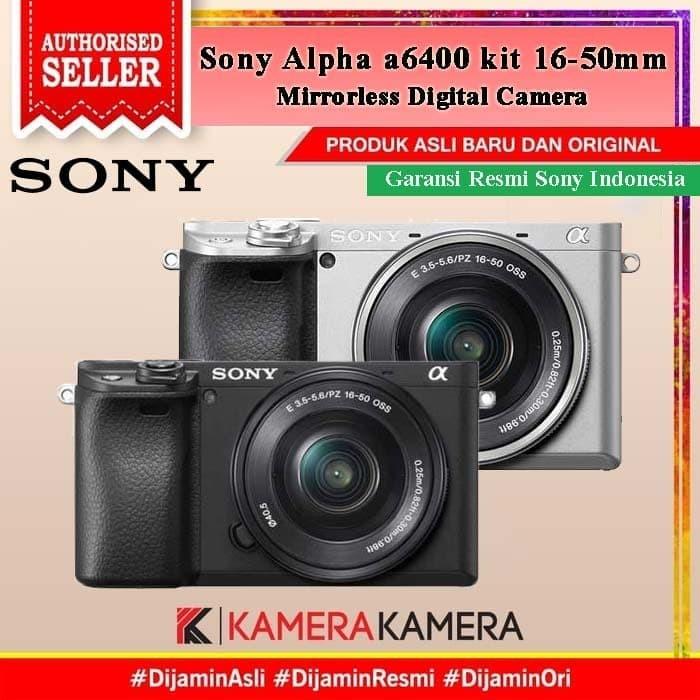 Foto Produk Sony Alpha a6400 / Sony 6400 kit 16-50mm Kamera Mirrorless - RESMI - Hitam dari kamerakamera