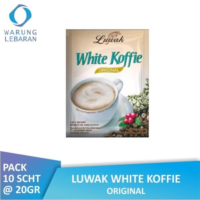Jual PACK Luwak White Koffie Original 20 GR | Luwak ...