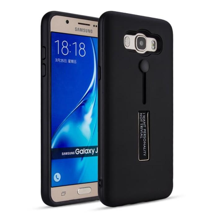 Foto Produk Samsung J5 2016 Silicone Ring Stand Luxury Soft Gel Capa Armor Case dari Megascarlet