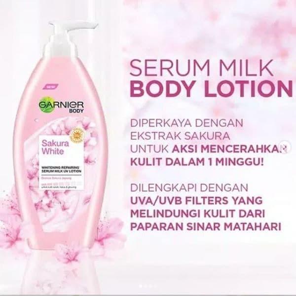 Foto Produk Garnier Sakura White Body Lotion 400mL 100% Original Termurah dari cherryblossomdps