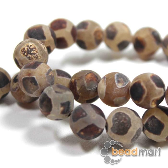 Foto Produk Manik Batu Alam Antique Agate 10mm, 1 Renteng, Bahan Aksesoris dari Beadmart