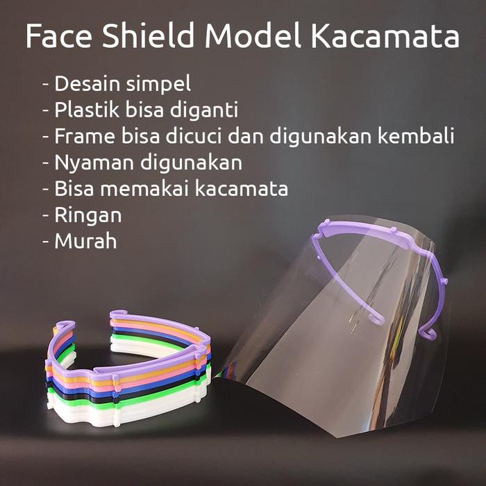 Foto Produk APD Face Shield Visor Reusable 3D Print Face Shield Pelindung Wajah dari Toko Aneka Perlengkapan