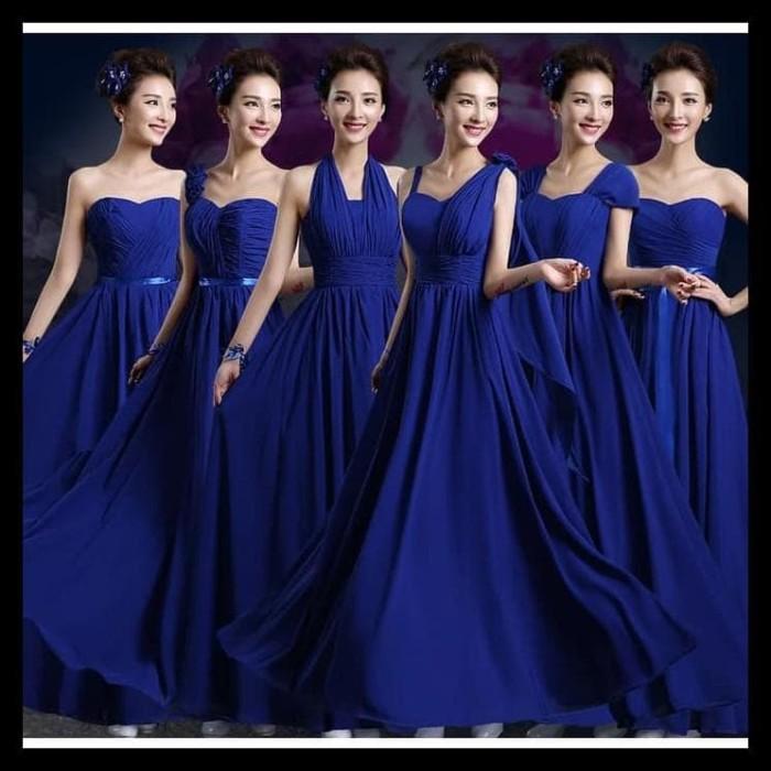 Jual Gaun Pengiring Pengantin 1908063 Biru Tua Navy Bridesmaid Gown Produk Jakarta Barat Eka Jayaaa Tokopedia