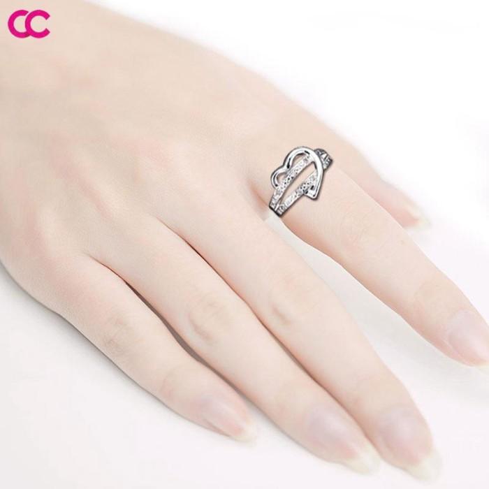 Jual Promo Heart Shaped Wedding Ring Finger Ring Lovers Diamond Ring Kota Medan Direction01 Tokopedia