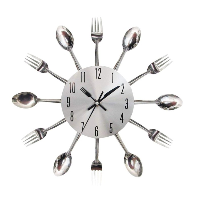 Jual Decoration Kitchen Wall Clock 3d Modern Cutleryspoon Fork Wall Clock Jakarta Selatan Buy Cang Tokopedia