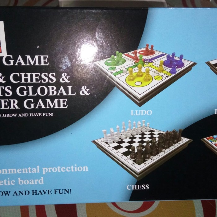 Foto Produk mainan game 4 in 1 Ludo,chess,ular tangga,dan draught global dari MAG TOYS