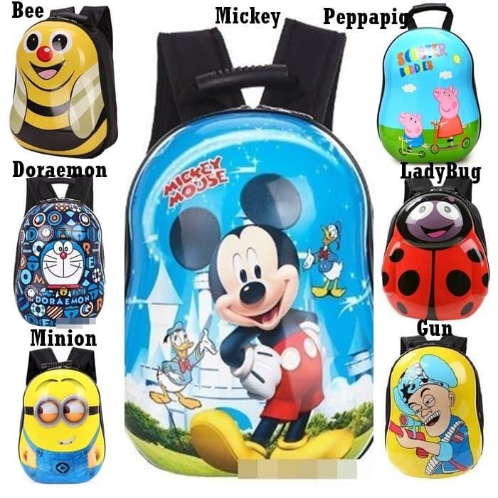 Foto Produk Backpack Anak Tas Telur Sekolah Paud TK Karakter Cowok Mickey G1010 dari Gudang Distributor Murah