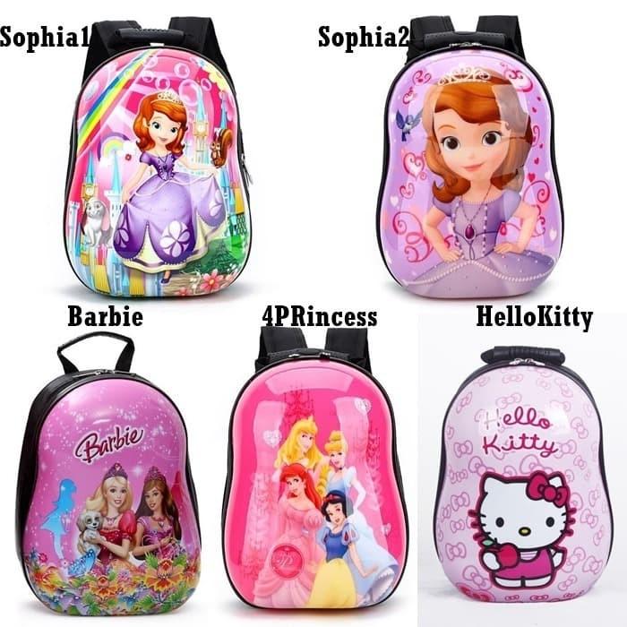 Foto Produk Tas Ransel Telur Anak Paud TK Karakter Cewek Sofia Hello Kitty G1010 dari Gudang Distributor Murah
