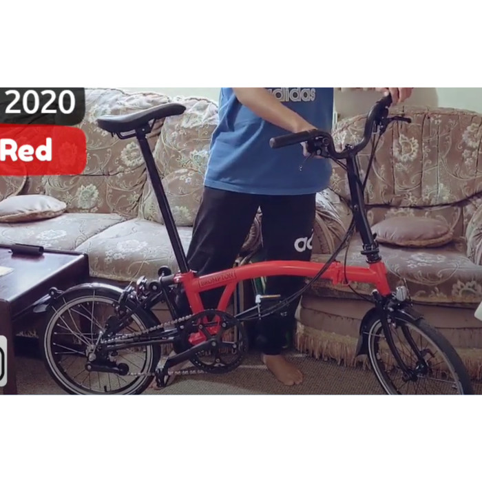 Jual Sepeda Lipat Brompton M6L Rocket Red Black Edition