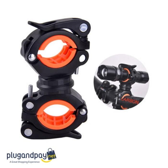 Foto Produk Clamp Holder Penjepit Senter Stang Sepeda 360 Derajat dari plugandpay