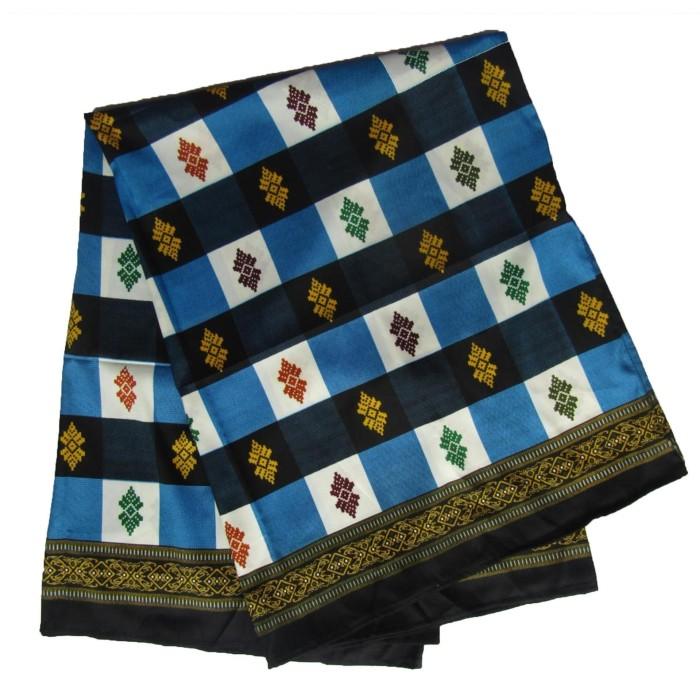 Foto Produk Sarung Catur Khas Bali Biru corak dari Jnanacrafts