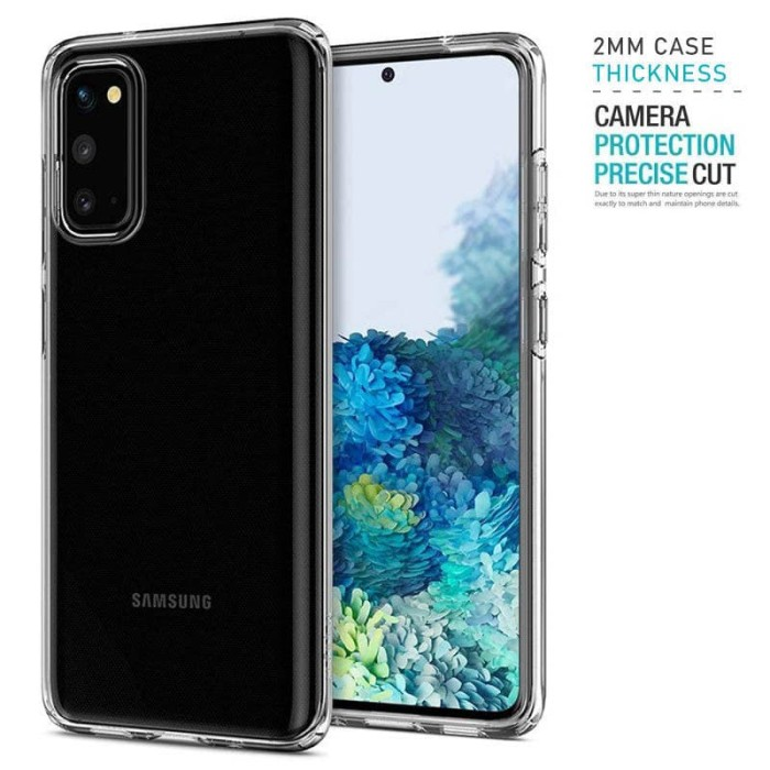 Foto Produk Tough TPU Case Samsung Galaxy S20 - Armor Clear 2mm Shock Proof Bening dari Logay Accessories