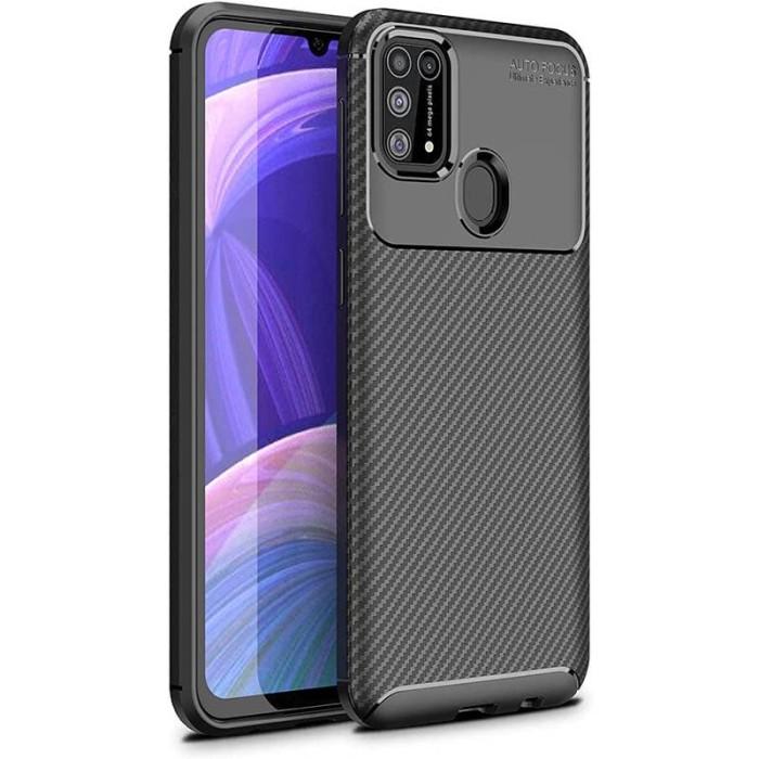 Foto Produk Carbon II TPU Case Samsung Galaxy M31 - Casing Black Soft Original dari Logay Accessories
