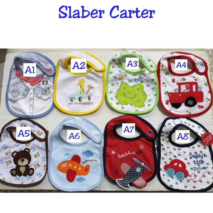 Foto Produk Slaber Carters / Bib Carter / Bibs Carter's - Tatakan Celemek Makan dari Shea Babykids