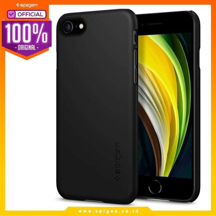 Foto Produk Case iPhone SE 2020 / 8 / 7 Spigen Hardcase Thin Fit Slim Casing - Black dari Spigen Official