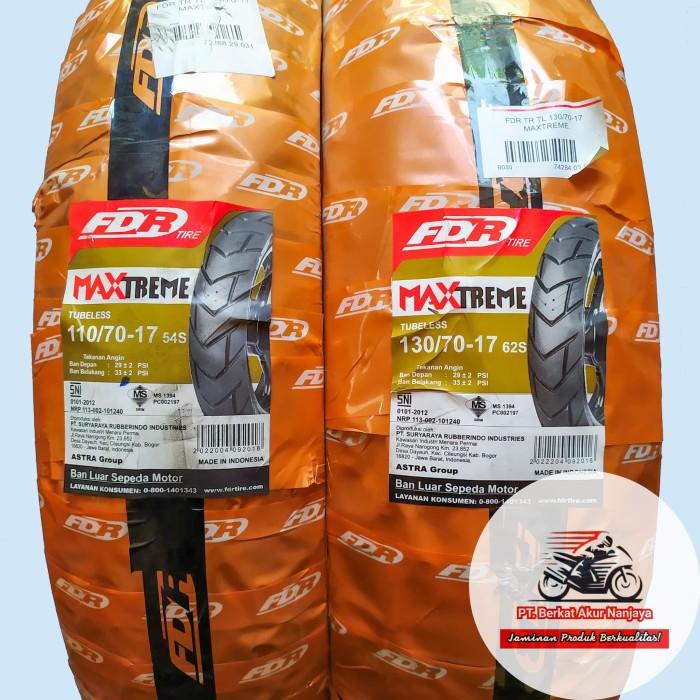 Foto Produk Paket FDR Maxtreme 110/70 & 130/70-17 PLUS bonus Pentil dari DEPOT BAN Official