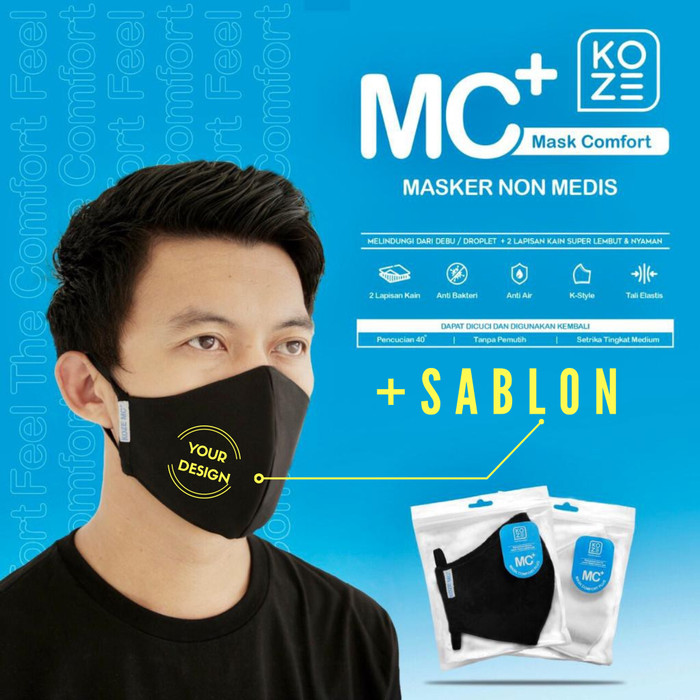 Jual Masker Kain Premium Koze plus Sablon custom - Kota ...