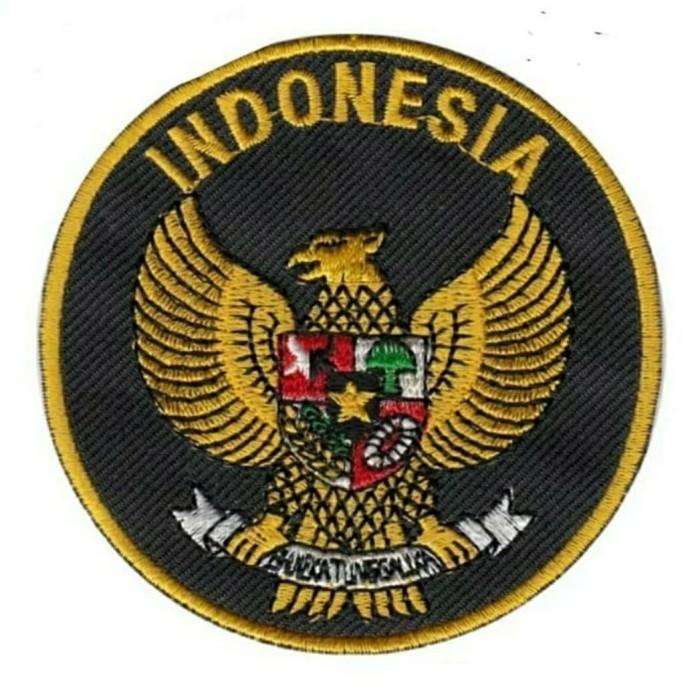 Jual Emblem Badge Bet Logo Atribut Bordir Burung Garuda Pancasila Indonesia Hitam Kota Malang Ayung Sportindo Malang Tokopedia