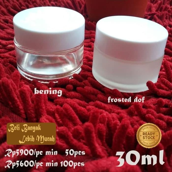 Kemasankosmetik: Jual Pot Kosmetik Kaca 30ml Pot Cream Jar Pot Krim 30gr