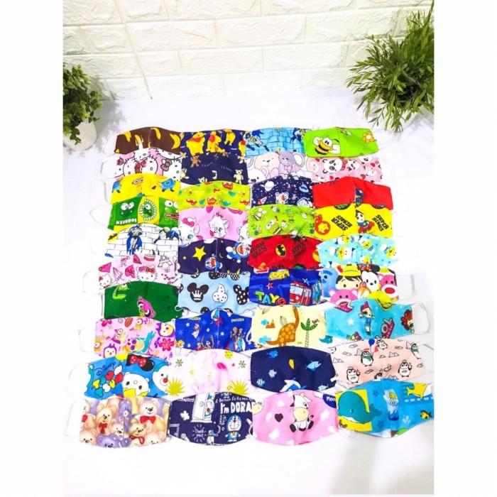 Foto Produk (Termurah) masker kain anak 2 lapis dari rumahjahitshop