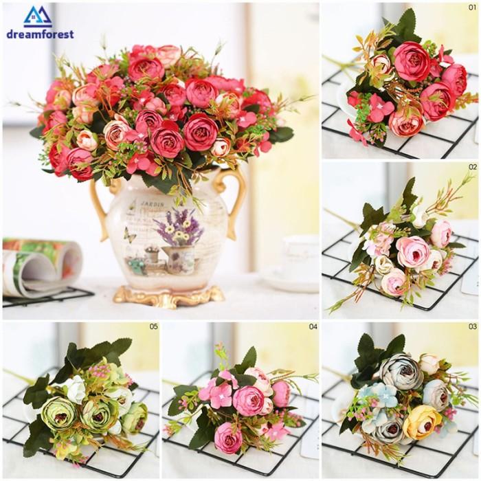 Jual Df Artificial Flowers Peony Silk Roses Home Decor Silk Floral Bridal Jakarta Barat Dhewa Store 1 Tokopedia