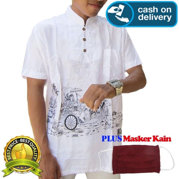 Foto Produk Baju koko lengan pendek motif kereta kuda L - S dari Jnanacrafts