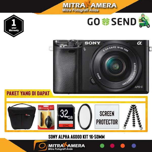 Foto Produk Sony Alpha A6000 Kit 16-50mm (Paket) - Hitam dari mitrakamera