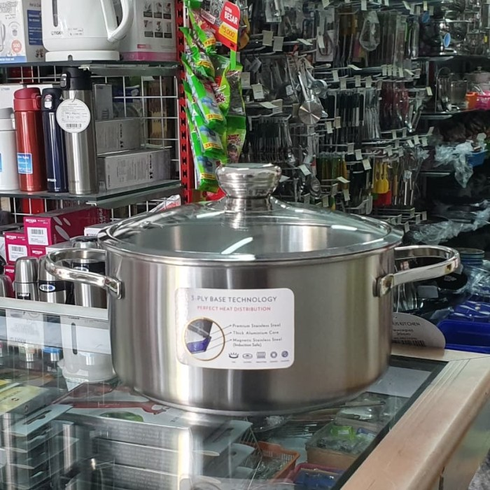 Foto Produk Panci Bima Precious Saucepot D20x10cm, w/glass lid, SUS 304 dari violaviola