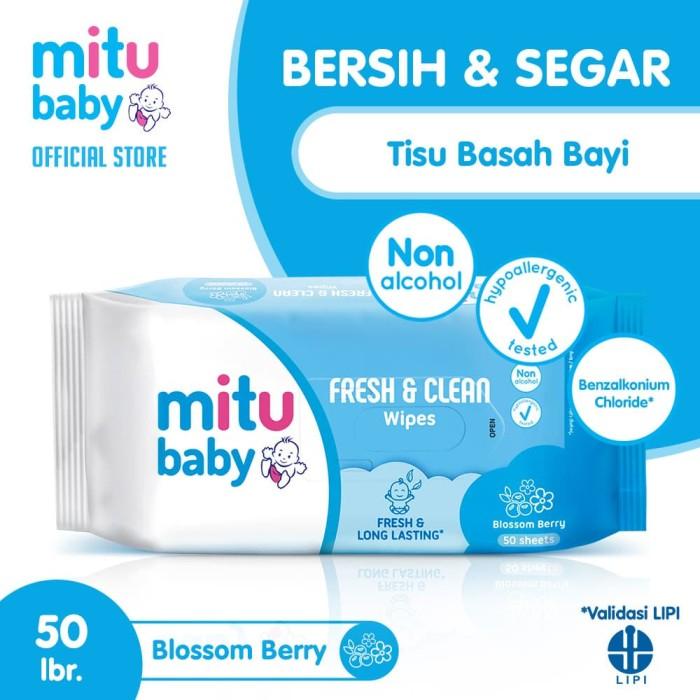 Foto Produk Mitu Baby Wipes Fresh n Clean Blue [50'S] dari Mitu Indonesia