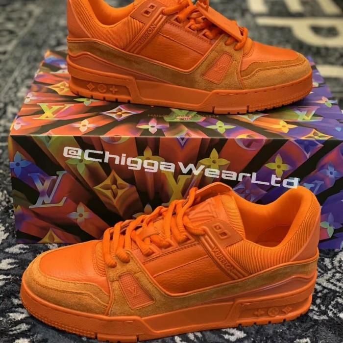 Louis Vuitton Orange Trainer Sneaker