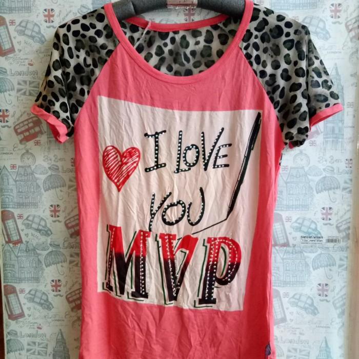 Foto Produk kaos mvp motif leopard macan wanita import/tshirt wanita unik lucu dari ChooseMee