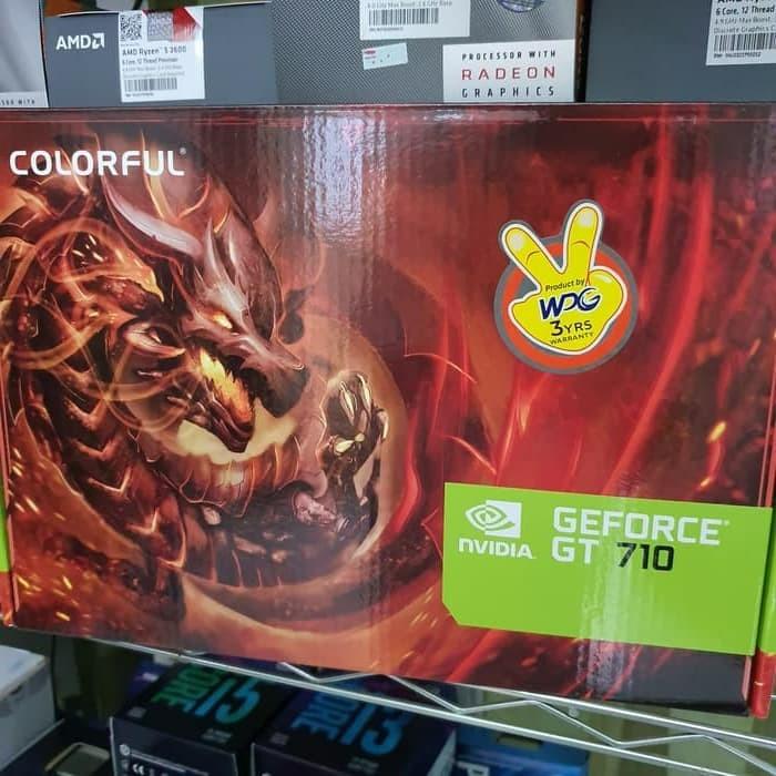 Foto Produk VGA Colorful GeForce ® GT 710 2GB / Colorful GT710 2GD3 dari POINT99 COMPUTER