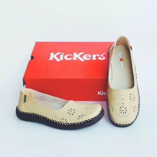 Jual Sepatu Kickers Wanita Sepatu Kickers Cewe Warna Krem Model