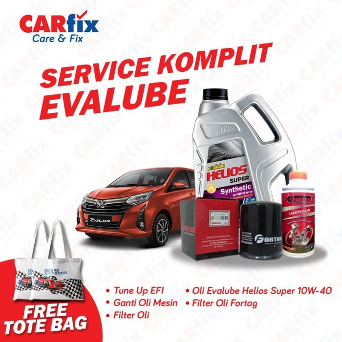 Foto Produk Service Komplit Evalube Calya - CARfix JAKARTA Free Totebag dari CARfix Indonesia