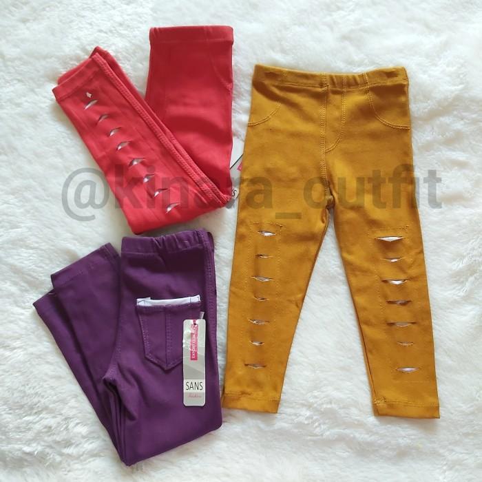 Jual Celana Jegging Model Sobek Sobek Size M Legging Anak Size M Merah Kota Depok Kinara Outfit Tokopedia