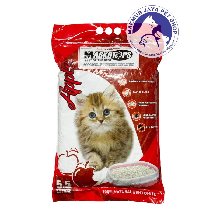 Jual Pasir Kucing Gumpal Wangi 5 5 Liter Markotops Cat Litter 5 5l Jakarta Utara Makmur Jaya Pet Shop Tokopedia
