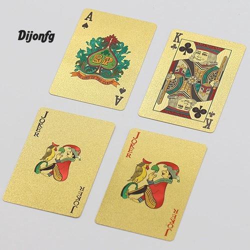 Jual Di Kartu Poker Lapis Foil Emas 24k Motif Kotak Kotak Untuk Hadiah Jakarta Pusat Lacooppia Tokopedia