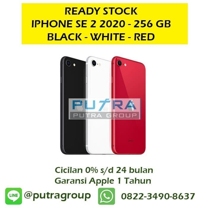 Foto Produk (NEW) iPhone 256GB SE 2 2020 Black - White Red Original Apple 256 SE2 - Red dari Putra Group