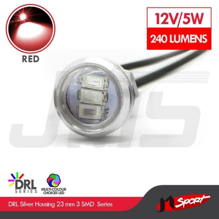 Foto Produk 1 Pasang Lampu LED Eagle Eye DRL White Housing 10W 23MM - Red dari Jaya Motorsport