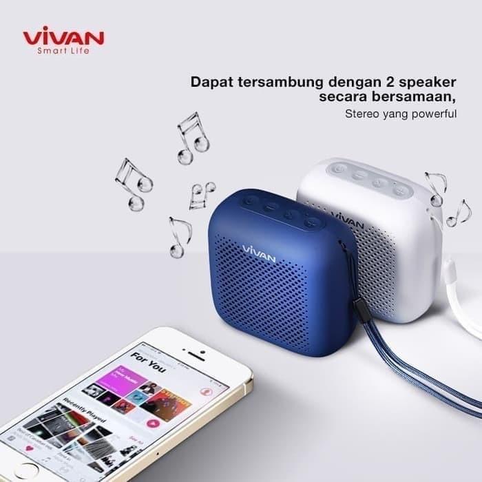Foto Produk Vivan S1 Speaker Mini Bluetooth Wireless Waterproof Garansi Resmi Ori dari vivan storee